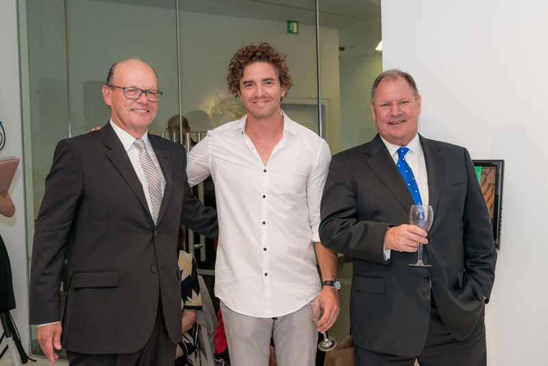 Eddie Kutner, Vincent Fantauzzo and The Right Honourable Lord Mayor of Melbourne Robert Doyle
