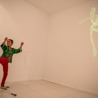 Guest enjoying Electric Puppet by Georgie Pinn