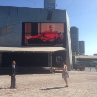 The 30.30 Project video on the Fed Square Big Screen
