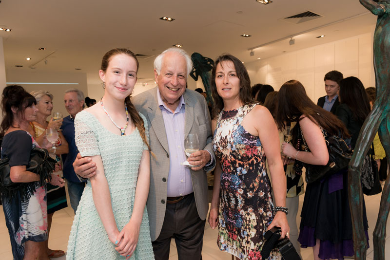 Anna Coldabella, Sir Gus Nossal AC and Teresa Coldabella