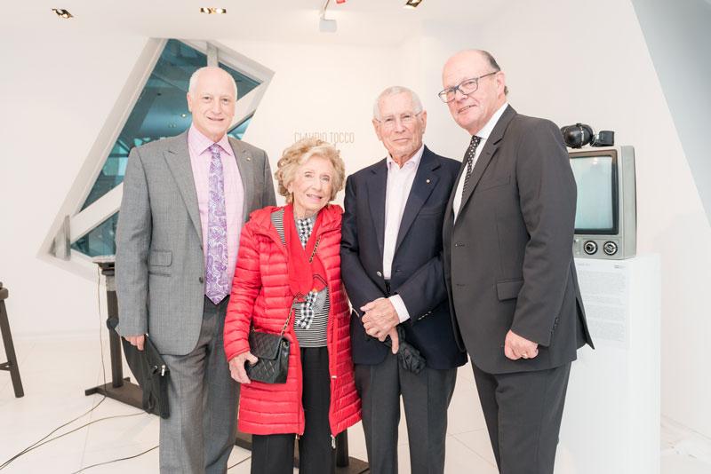 Leon Kempler OAM, Dr Paula Hansky OAM, Dr Jack Hansky OAM and Eddie Kutner