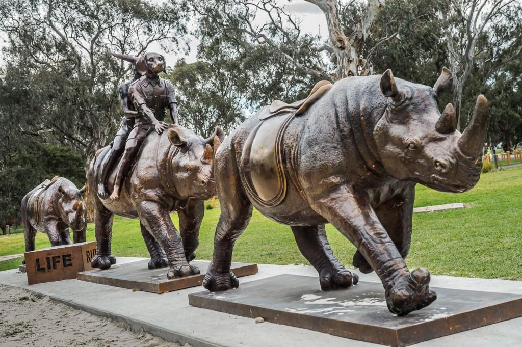 Run for your Life at La Trobe University Bundoora, the installation's new permanent home